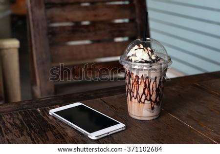 chocolate frappe - stock photo