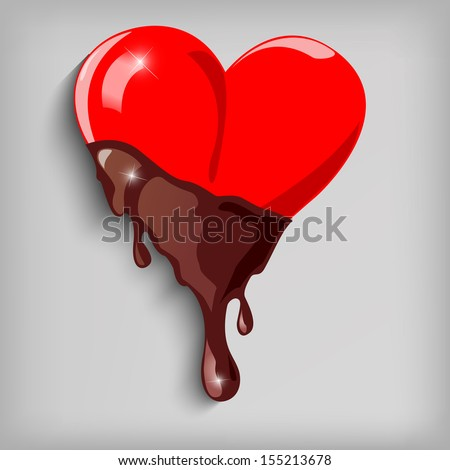 Chocolate Hearts Isolated on White Background - jpg version - stock photo