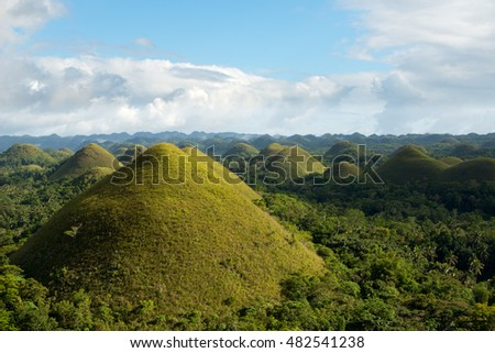 Chocolate Hills in Bohol province, Philippines