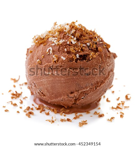 Chocolate Ice cream isolated.