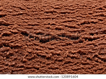 Chocolate ice cream macro detailed texture - stock photo