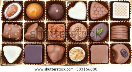 Chocolate in the box - stock photo