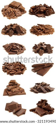Chocolate isolated - stock photo