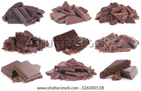 Chocolate isolated - stock photo