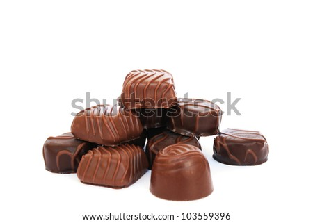 Chocolate  isolated on white background.