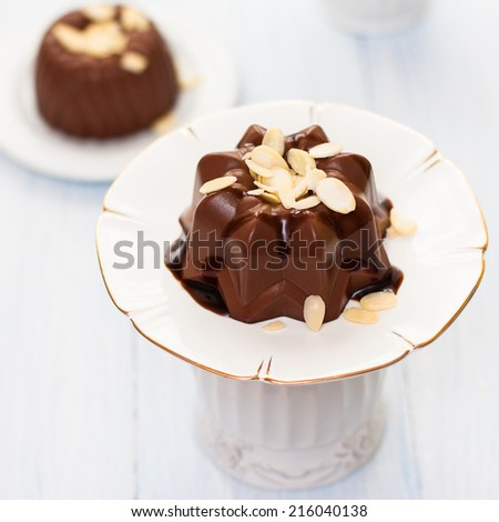 chocolate jelly on a white background. isolate