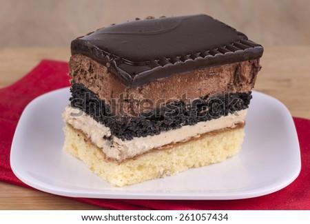 chocolate  layer cake - stock photo