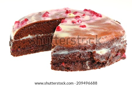 Chocolate Layer Cake with Cream and Red Currant Jam