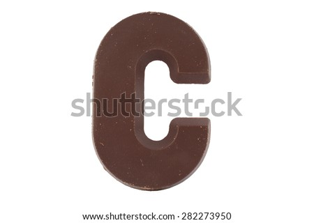 Chocolate letter C. Sweet candy - stock photo