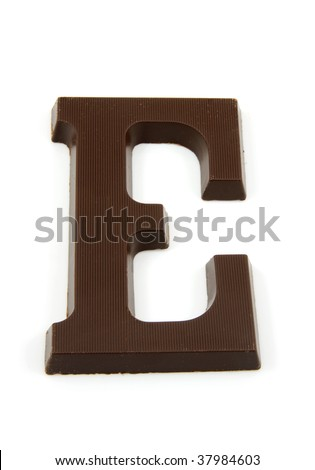 Chocolate letter E for Sinterklaas, event in the Dutch in december - stock photo
