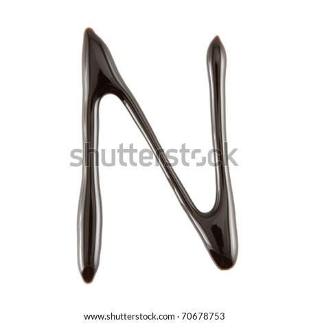Chocolate Letter N - stock photo
