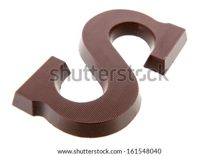 Chocolate letter S for Dutch  holidays - stock photo