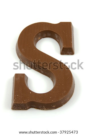 Chocolate letter S for Sinterklaas, event in the Dutch in december