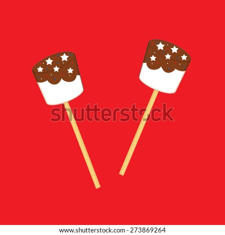 Chocolate Marshmallow Pops  - stock photo