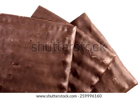 Chocolate matzos for Passover - stock photo