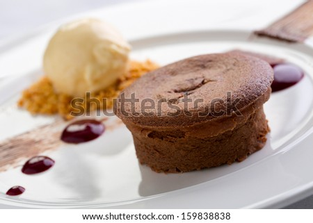 chocolate moelleux - stock photo
