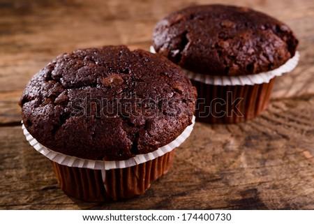 Chocolate muffin - stock photo