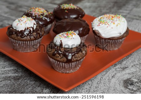 Chocolate muffins  - stock photo
