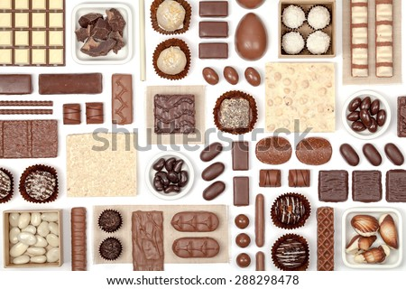 chocolate on white background  - stock photo