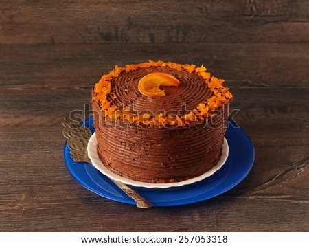Chocolate orange cake - stock photo