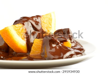 Chocolate Orange Dessert - stock photo