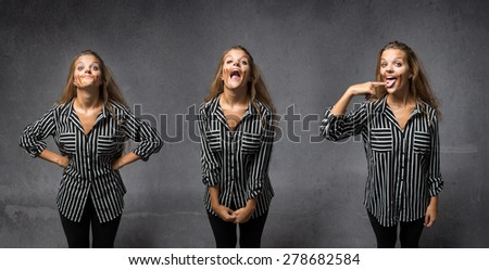 chocolate passion concept, girl happiness - stock photo