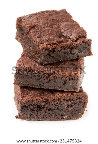 Chocolate prune Brownies - stock photo