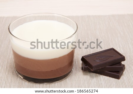 Chocolate pudding. - stock photo