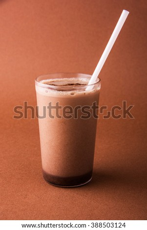 chocolate shake or cold chocolate milkshake