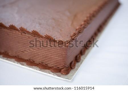 Chocolate Sheet Cake - stock photo