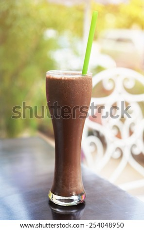 chocolate smoothie - stock photo