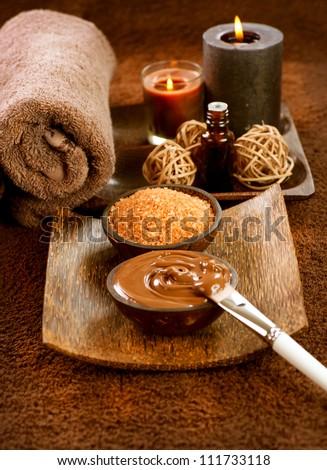 Chocolate Spa Mask - stock photo