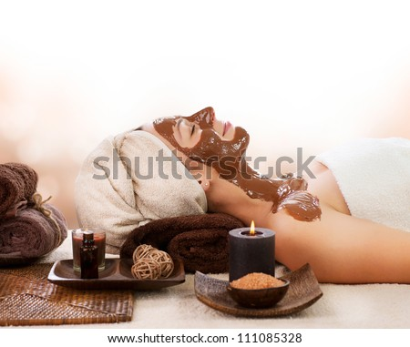 Chocolate Spa Mask. Spa salon - stock photo