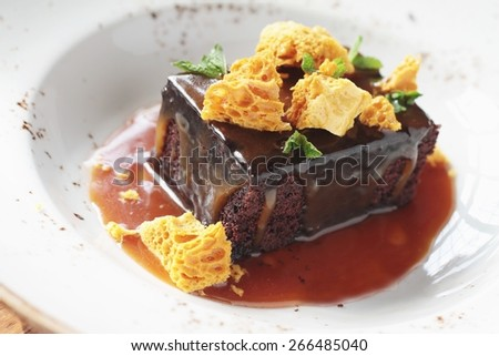 Sticky Toffee Pudding Stock Photos, Illustrations, and Vector Art