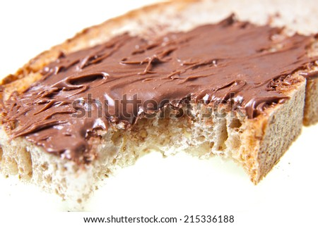 Chocolate spoon close up - stock photo