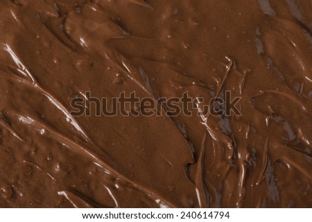 Chocolate Spread as a Food Background. - stock photo