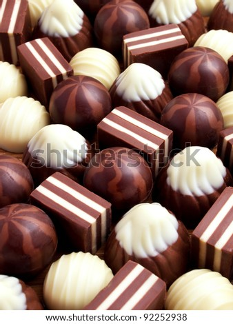Chocolate sweetmeats. Abstract composition - stock photo