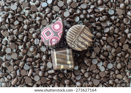 Chocolate sweets - stock photo