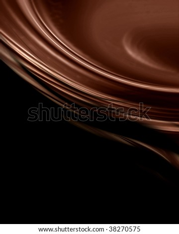 Chocolate swirl with some smooth lines on it
