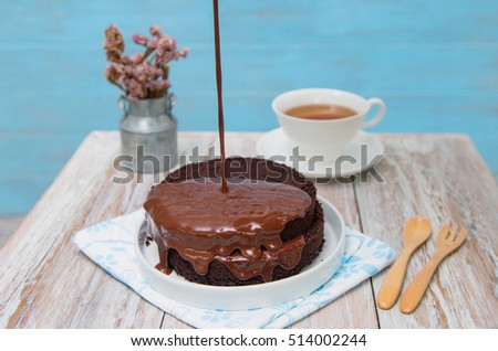 Cake Decoration With Chocolate Syrup : Cake Decoration Stock Images, Royalty-Free Images ...