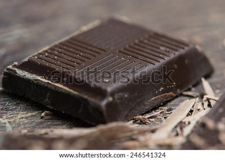 Chocolate tablet - stock photo