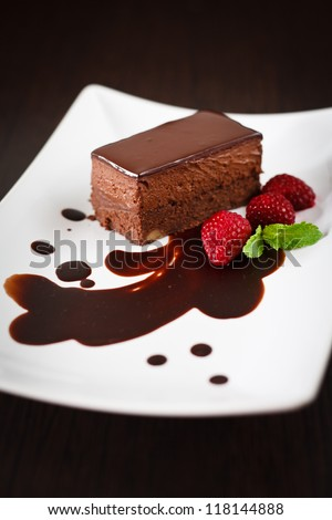 Chocolate Truffle Cake - stock photo