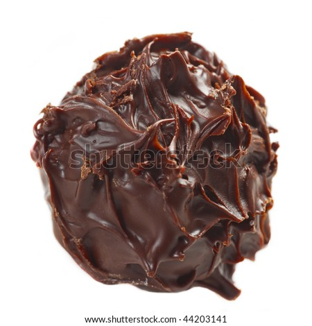 chocolate truffle macro