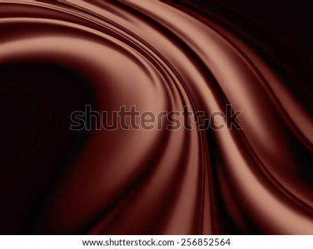 Chocolate wave - abstract background - stock photo