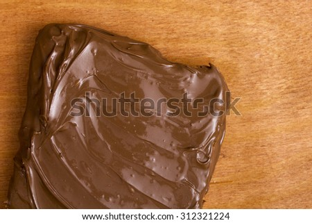 Chocolate with Hazelnuts, organic design dish for the sweet tooth. - stock photo