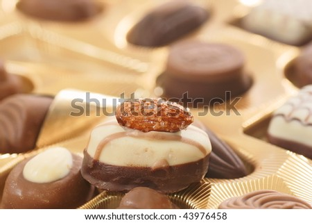 chocolate with walnut - stock photo