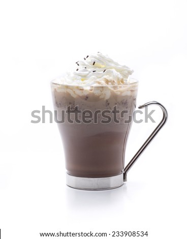 chocolate with whiskey cream, hot cocktail - stock photo