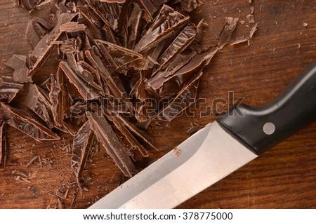 Chocolates closeup - stock photo