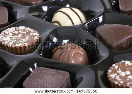 Chocolates in a box - stock photo