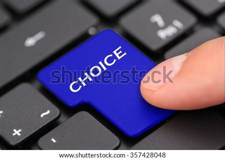Choice - stock photo